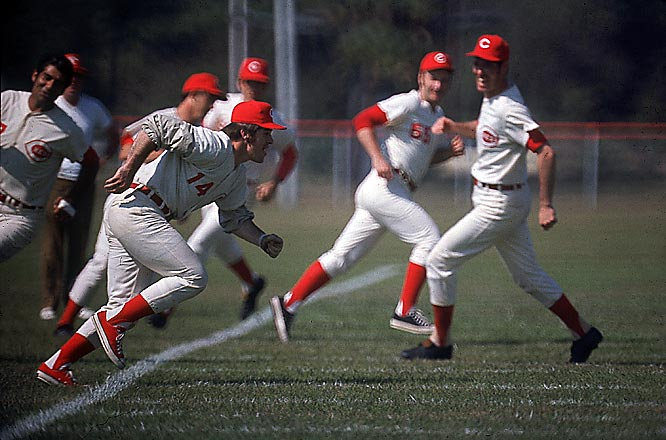 Despite being a 10-year veteran, Pete Rose still hustles like a rookie in Reds camp.