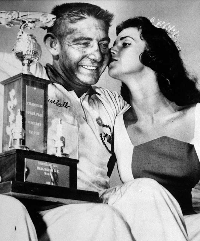 Roberts won the 1955 race in Daytona Beach but had the win taken away because of an engine modification. It was the last time NASCAR disqualified a Cup winner for failing a post-race inspection.