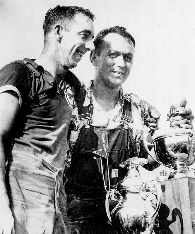 Yunick, a car owner and mechanic in the '50s and '60s, is the center of many legendary crime stories. One time Yunick (right in photo, with driver Herb Thomas) even built a 7/8-scale car and raced it, but the con job was too good. Smokey got caught when his car was 1/8th faster than the entire field.