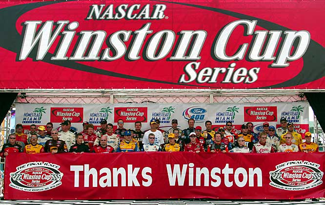 Tobacco company R.J. Reynolds, having seen the growth of NASCAR in the late '60s, decided to get involved with a sponsorship deal of select events, thus creating the Winston Cup. A year later, the company sponsored the entire Grand National season (reduced from 48 to 31 races, each at least 250 miles). The Winston Cup lasted through the 2003 season, with Nextel taking over the sponsorship starting the next year.