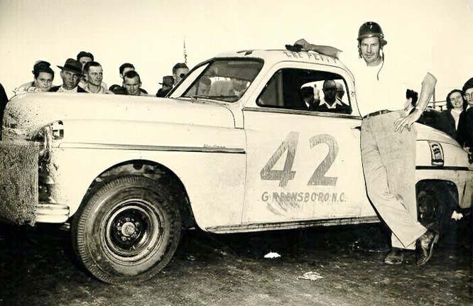 Lee Petty's Plymouth.