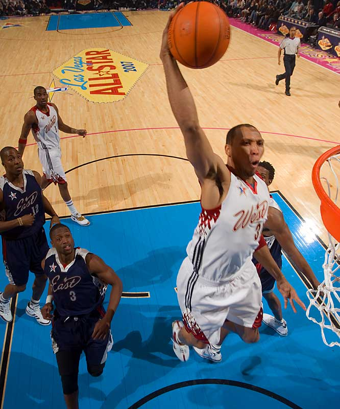 Shawn Marion contributed 18 points and 8 rebounds for the West.