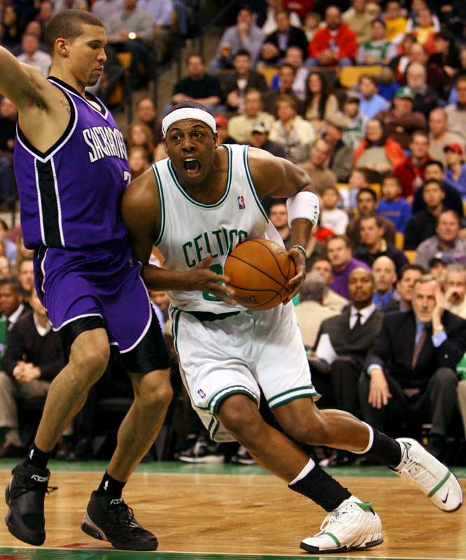 As his former teammate Antoine Walker plainly observed recently, Pierce chose to re-sign with the Celtics. Big mistake. As this season's standings make clear, the Celtics aren't anywhere close to contending, which is sure to wear on a player who suggested the team trade its No. 1 pick this year to acquire more ready-to-play talent. With a front office seemingly unwilling to make that sort of deal, Pierce isn't likely to keep playing the good solider for long.