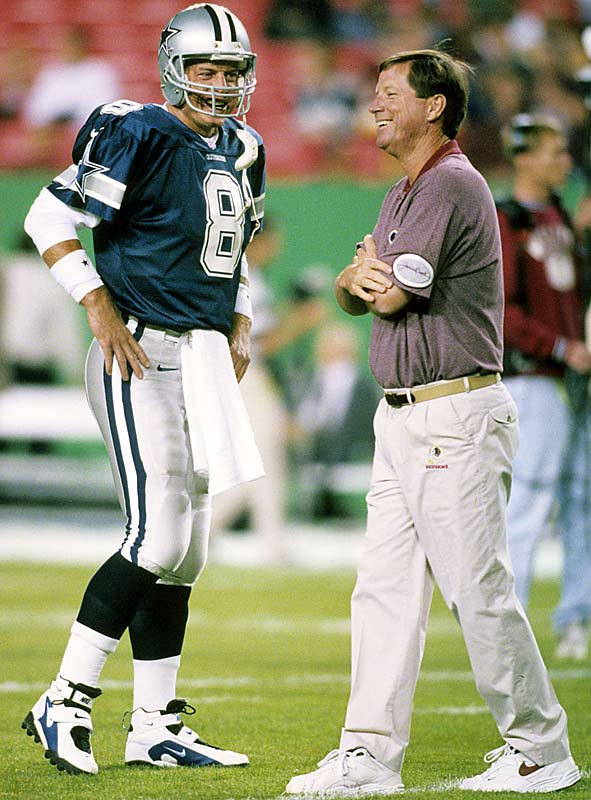 Aikman gives Turner credit for turning him into a Hall of Fame quarterback. Aikman had two awful seasons before joining forces with Turner in 1991 and the two helped Dallas become a Super Bowl team. Turner presented Aikman when he was enshrined in Canton.