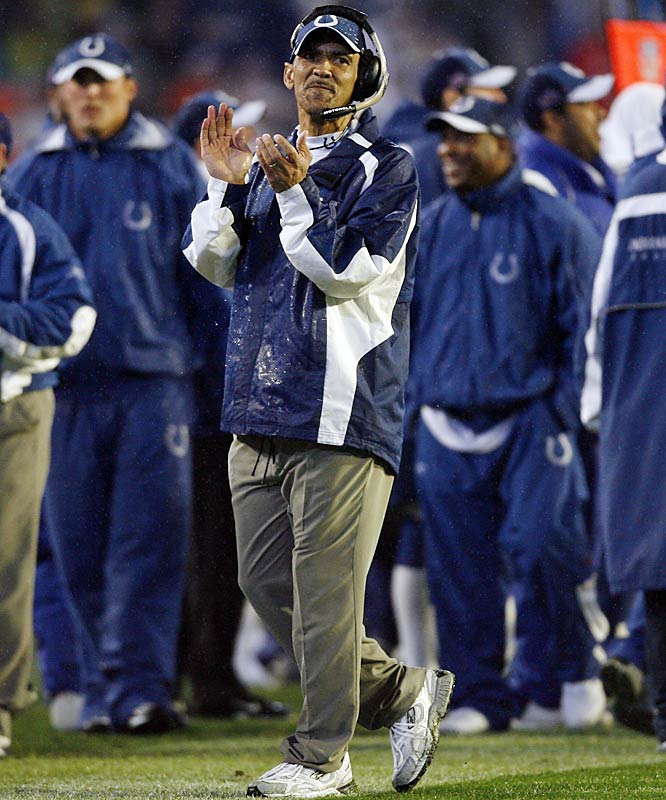 The Colts relied on the quiet confidence of coach Tony Dungy to pull off yet another come-from-behind playoff victory.