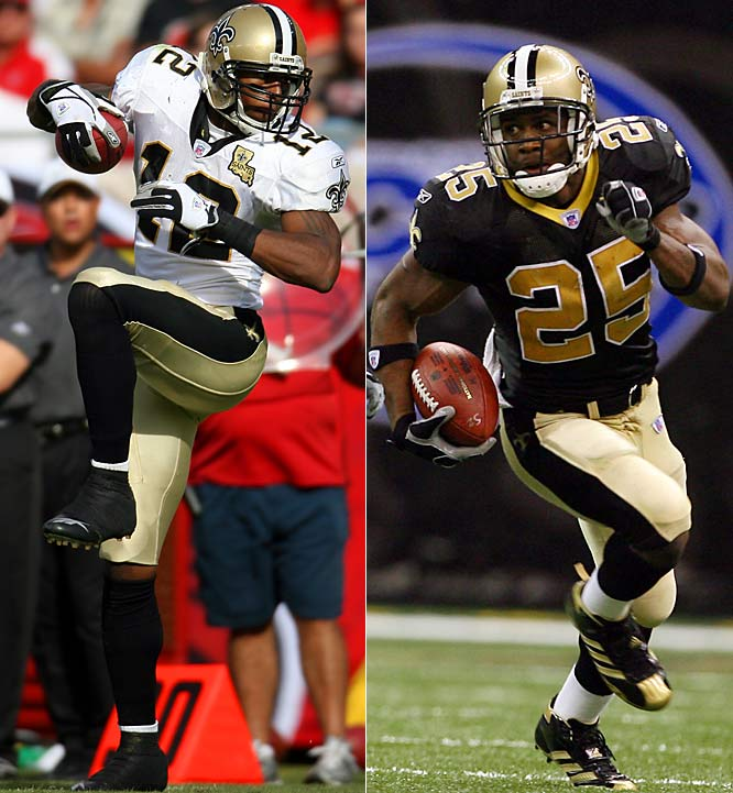 The Saints benefited from the Texans taking Mario Williams and letting Reggie Bush (25) fall to No. 2. But they also made the single best pick of the draft, wide receiver Marques Colston (12) in the seventh round. And they picked their starting right guard, Jahri Evans, in the fourth round.