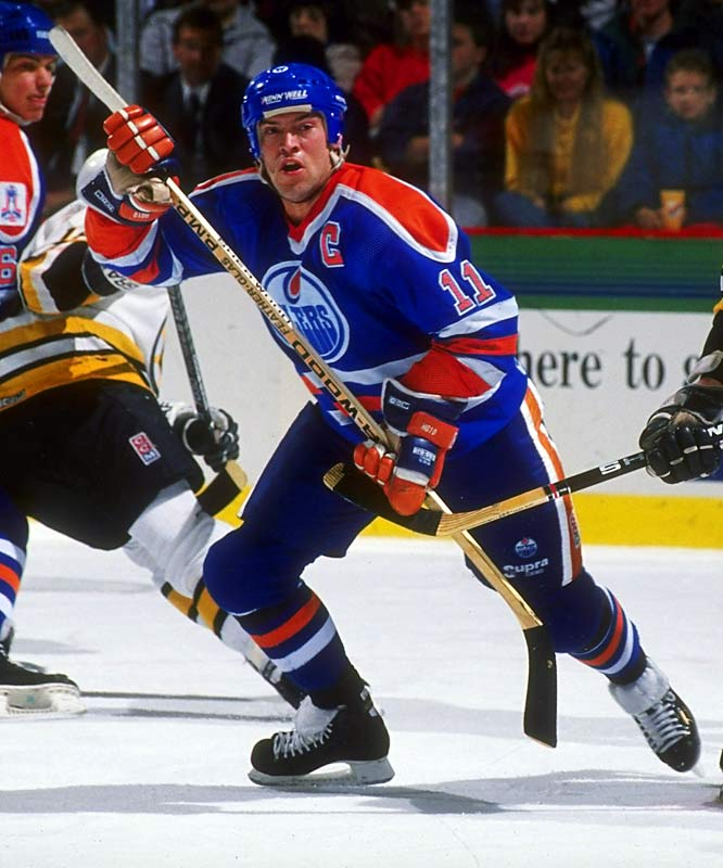 Playing with renewed drive, Messier had his best season 1989-90, scoring 129 points, second only to Gretzky, and winning the Hart Trophy. In the playoffs, Mess established his legend for clutch when he scored two goals and two assists in Game 4 of the Campbell Conference final in Chicago, rallying the Oilers from a two-games-to-one hole and into the Stanley Cup finals against favored Boston.