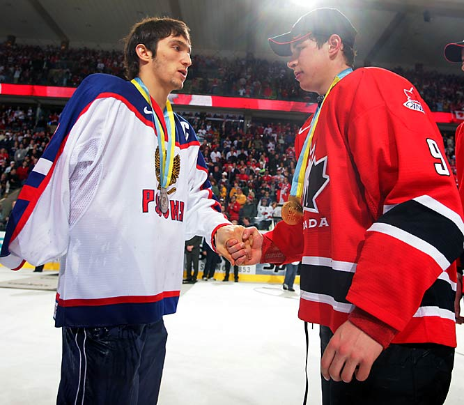 The friendly rivalry began at the 2005 World Junior Championships in Grand Forks, N.D. Crosby and Team Canada routed Russia and Ovechkin, 6-1, in the gold medal game.