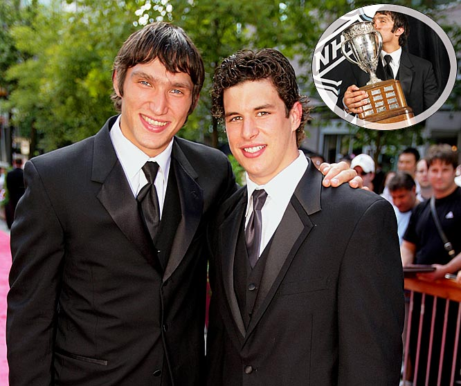 Star power: Although Crosby and the Pens won the 2006 season series, 3-1, Ovechkin got the last laugh by winning the Calder Trophy as NHL Rookie of the Year after finishing the season with 52 goals and 106 points to Crosby's 39 and 102.