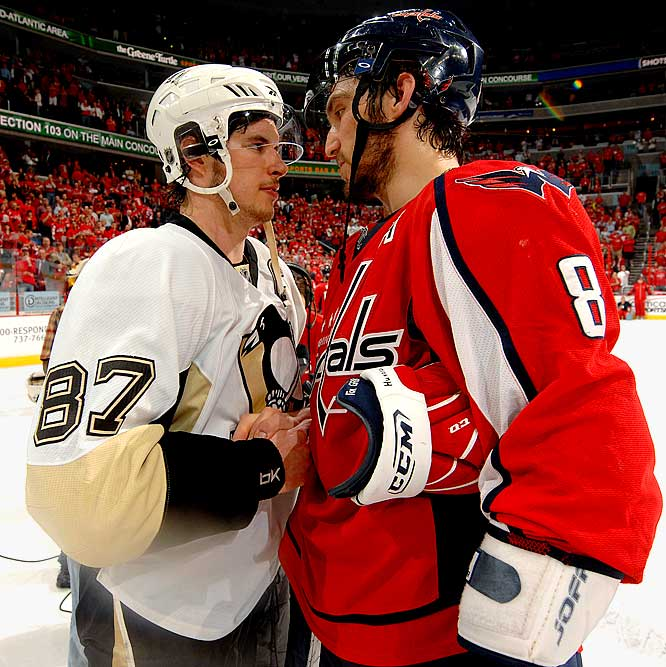 Alex Ovechkin scored a goal, but Sidney Crosby had two goals and an assist to lead the Penguins to a 6-2 thrashing of the Capitals in Game 7.