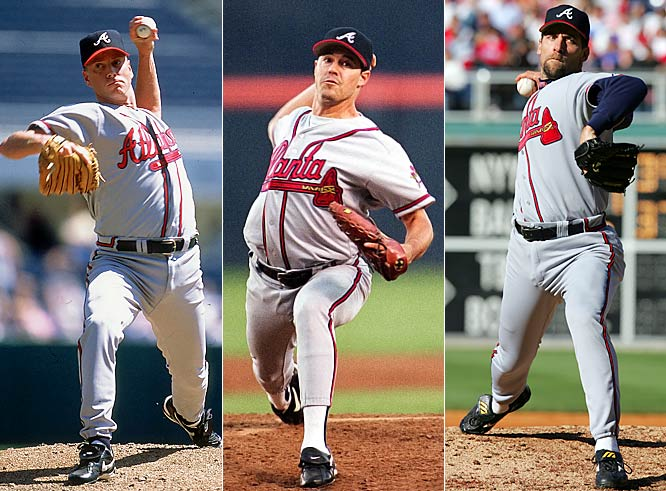 When they were with the Braves, <i>every little thing they did was magic</i>. This power trio lead Atlanta to nine of its 14 consecutive NL East titles. But with Glavine gone to the Mets and Maddux with the Cubs and Dodgers last season, Smoltz was unable to keep the Braves' division-winning streak going.