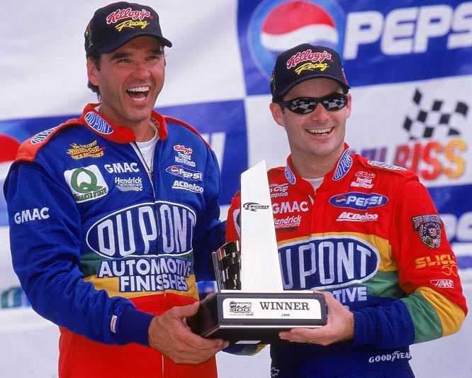 Evernham was the crew chief for Gordon's first three Cup championships and 47 races before leaving to form Evernham Motorsports in 1999. Gordon may want to <i>put on the red light</i> for him, though, since he has won only one Cup since their breakup.