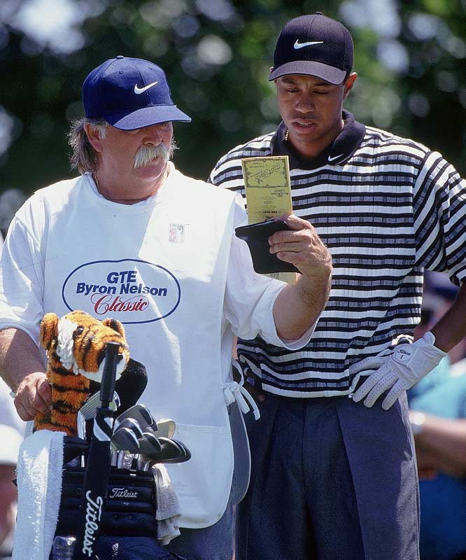 The shaggy caddy helped Woods win his first major, the 1997 Masters, but was dismissed a couple of years later as Tiger grew weary of his publicity-seeking ways. It's not like Fluff ended up with a <i>Dead End Job</i> though; he's currently the caddy for Jim Furyk.