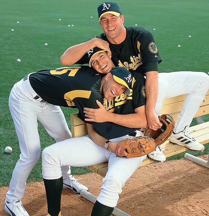 They once comprised The Big Three in Oakland, leading the A's to the playoffs four consecutive years, but now they are <i>many miles away</i> from each other. Zito will be pitching for the Giants this season, Mulder with the Cardinals and Hudson with the Braves.