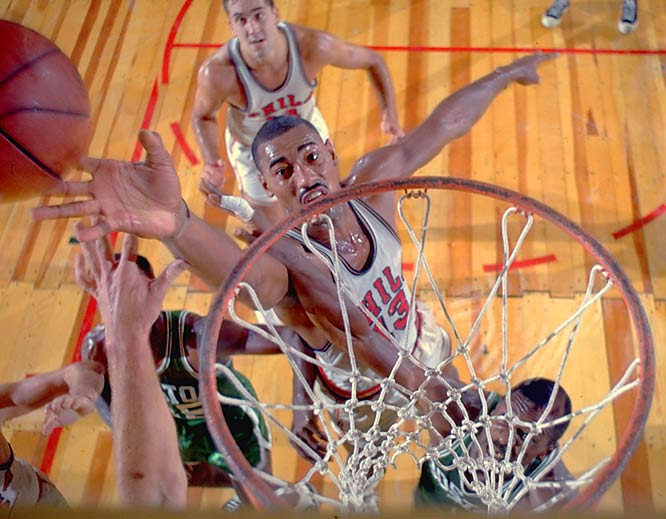 Wilt Chamberlain's seven consecutive NBA games of scoring 50 or more points during the 1961-62 season.