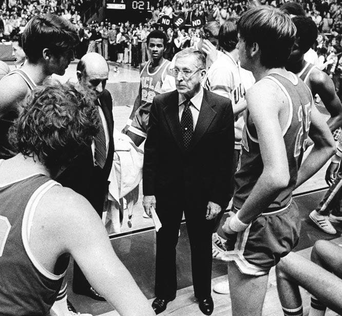 UCLA's 88-game winning streak under coach John Wooden, stretching from Jan. 30, 1971 to Jan. 14, 1974.