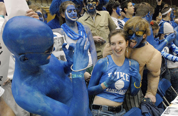 The Cameron Crazies never fail to live up to their nickname.