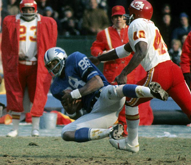 Chosen for NFL's all-decade team of the 1970s. ... At time of retirement was Lions' all-time receptions leader (336), his career yards receiving (4,817) ranked second. ... Was voted to seven Pro Bowls. ... In an era of blocking tight ends, he became team's secret weapon as a receiver. ... Was Lions' leader or co-leader in receptions six of his 10 seasons.