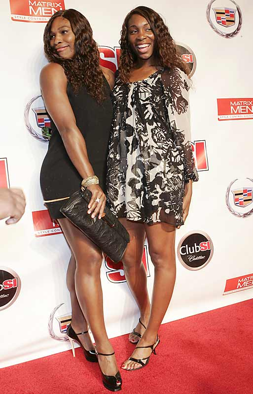 Serena and Venus Williams at the SI Party.