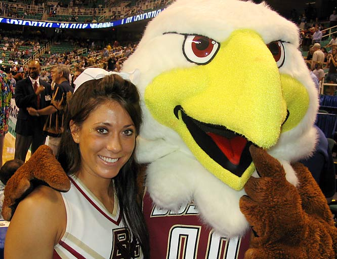Meet Jenn Crook, a Psychology major at Boston College and proud member of the Eagles' cheerleading squad. Off the field, Jenn stays true to her Boston roots by listening to Aerosmith and watching Red Sox games. Wanna learn more about this Eagle? Click on the 20 questions link below.