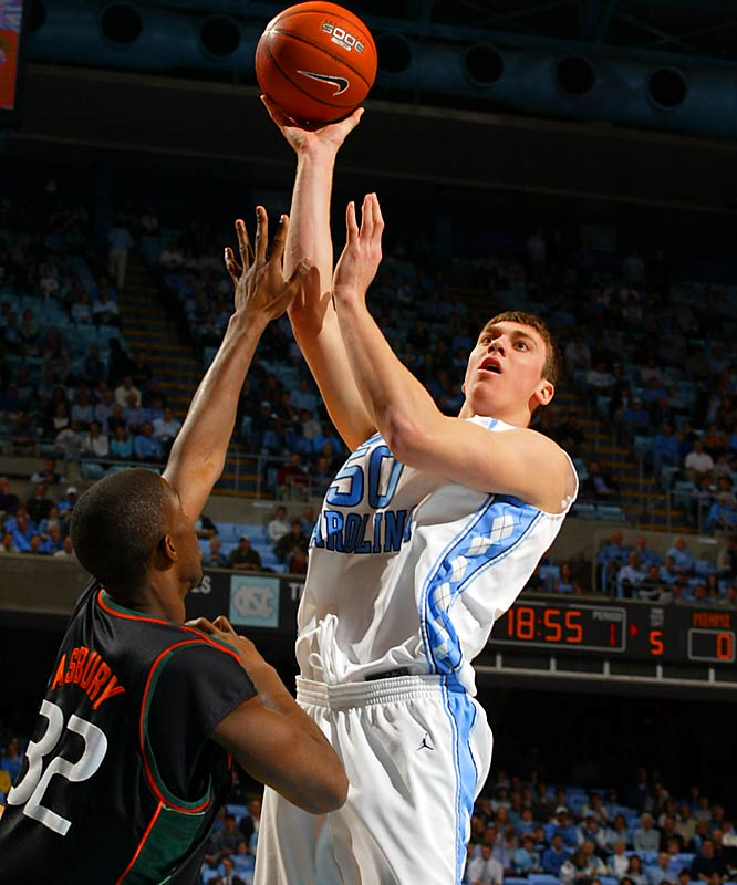 The young Tar Heels (28-6) sailed into the tournament with an automatic bid after winning the ACC tournament. Led by sophomore Tyler Hansbrough (18.7 ppg), UNC is fast, deep and talented.