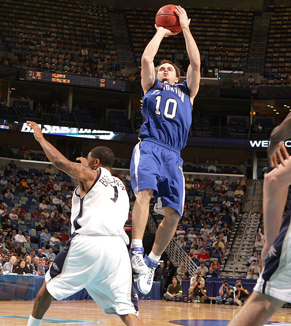 Nate Funk (10) had 23 points, but couldn't save Creighton from an early exit in New Orleans.