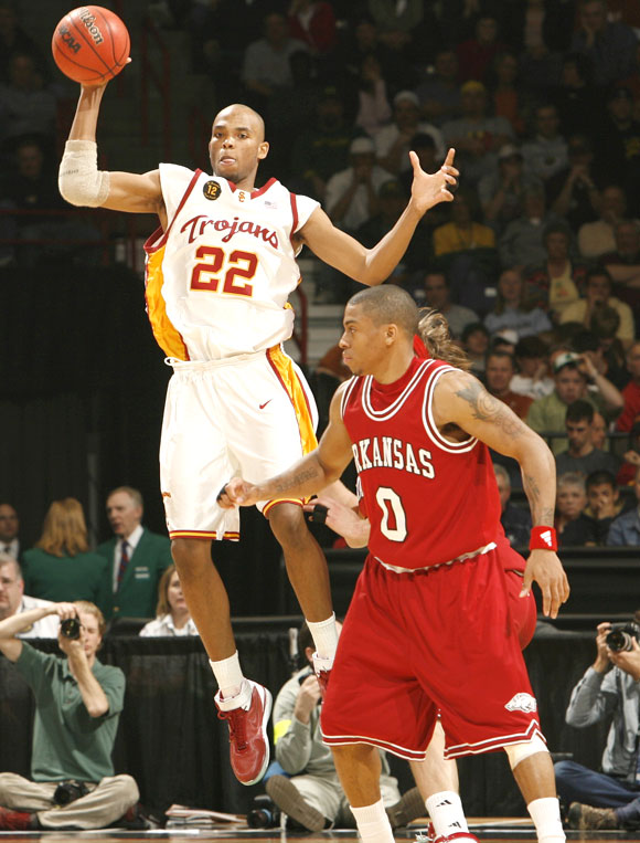Gibson and the Trojans were winners in the school's first NCAA tournament appearance since 2002.