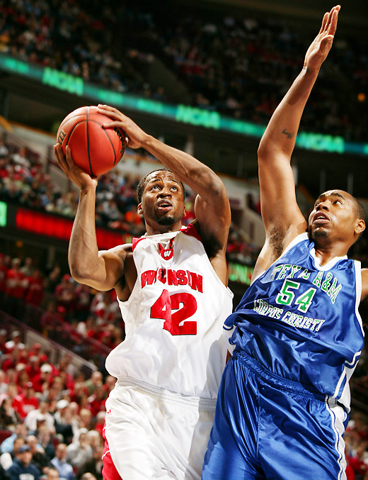 Big Ten Player of the Year Alando Tucker took over in the second half and finished with 23 points for Wisconsin.