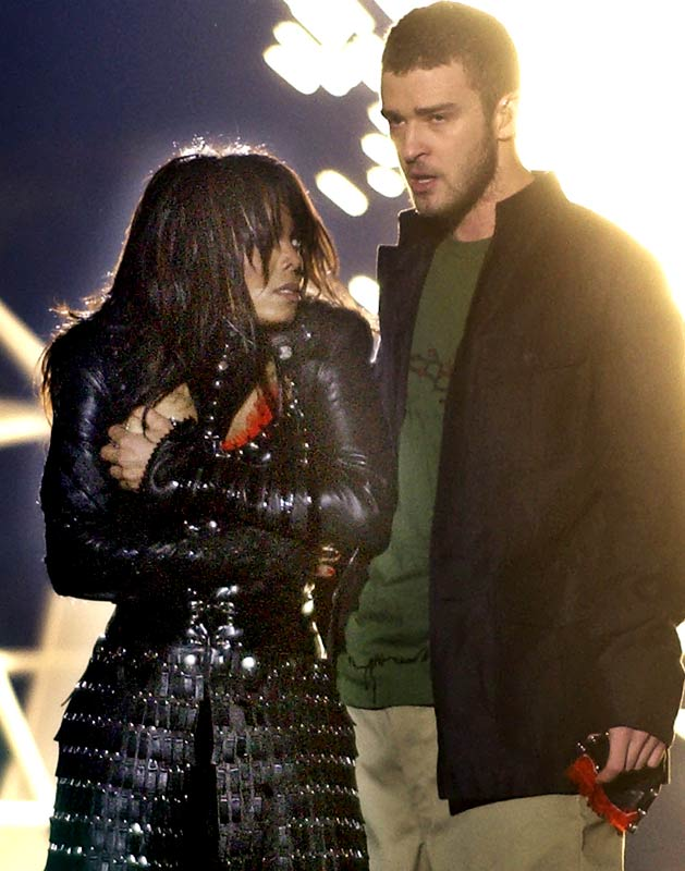 "After her breast was exposed during the Super Bowl XXXVIII halftime performance with Justin Timberlake:   ""It was not my intention that it go as far as it did. I apologize to anyone offended...""    (On the other hand, Timberlake told Access Hollywood, laughingly: ""Hey, man, we love giving you all something to talk about."")"