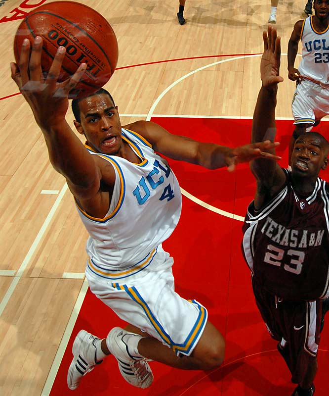 Arron Afflalo, G, UCLA<br>6-5, Jr.<br><br>A silky smooth scorer, Afflalo averages a team-high 17.2 points and hit double figures in 29 consecutive games, a streak that ended in the Bruins Pac-10 tournament loss to Cal. The Pac-10 Player of the Year, Afflalo has helped the Bruins to a 26-4 record in the regular season.