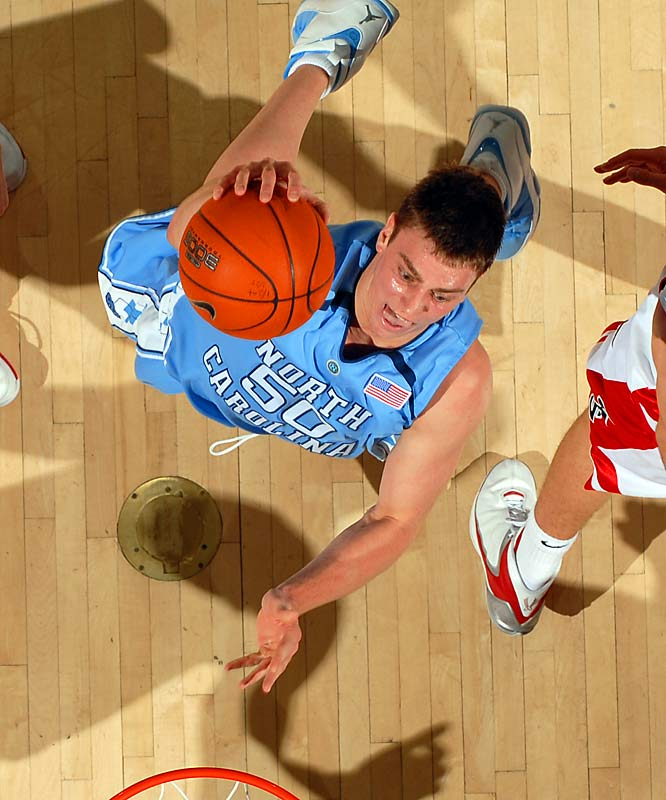 Tyler Hansbrough, F, North Carolina<br>6-9, So.<br><br>Psycho T led the Tar Heels to a share of the ACC title, starting every game and averaging a team-high 18.9 points per game.