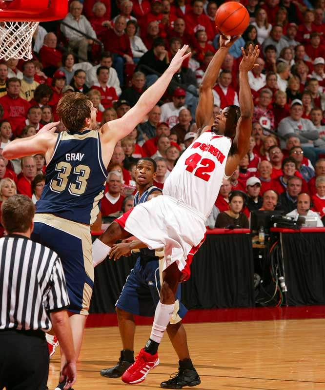 Alando Tucker, F, Wisconsin<br>6-6, Sr. <br><br>The Big Ten Player of the Year, Tucker has helped Wisconsin to a 27-4 record and second place finish in the Big Ten. He's averaged 19.7 points and 6.1 rebounds while shooting 45.2 percent from the floor.