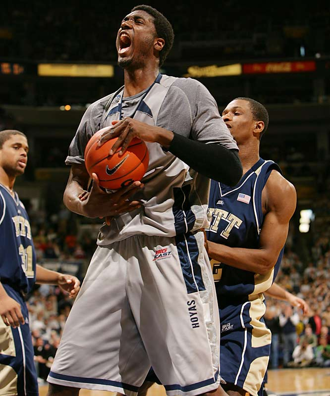 Roy Hibbert played like a man among boys in helping Georgetown reach the Final Four.