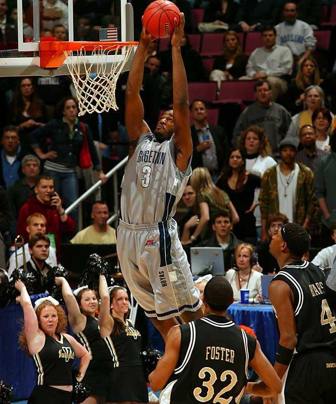 Vanderbilt could only sit back and watch as Georgetown's DaJuan Summers dunked.