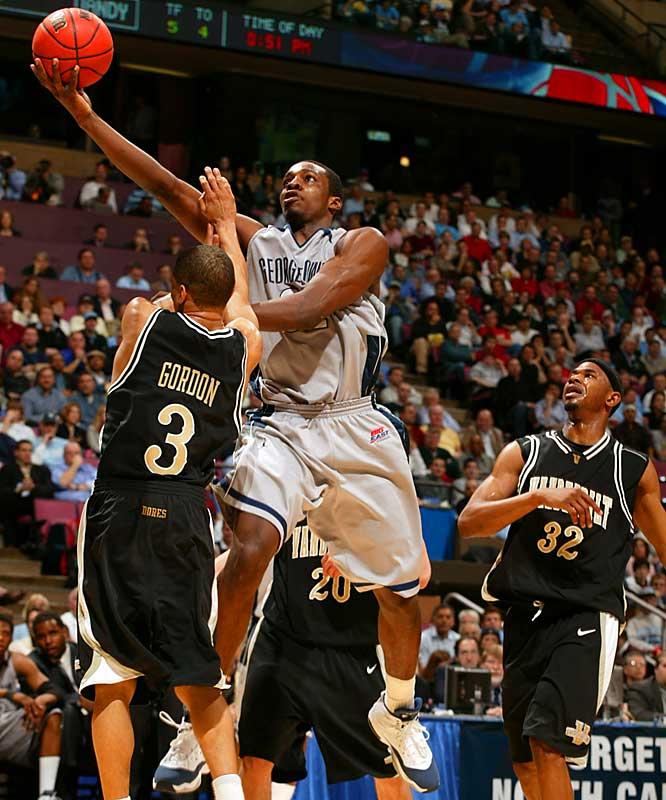 Jeff Green drives to the basket against Vanderbilt's Alex Gordon.