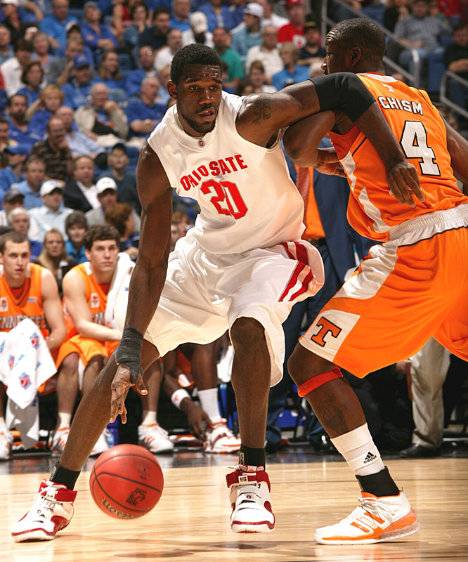 Greg Oden had nine points to help the Buckeyes overcome a 20-point deficit against Tennessee.