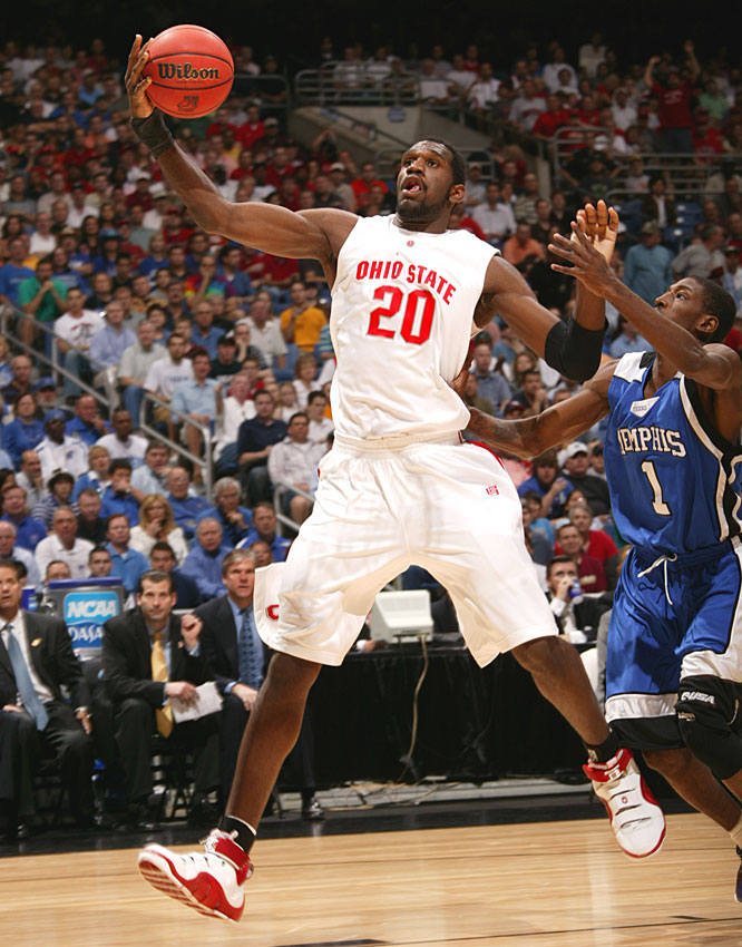 Greg Oden was 7-for-8 from the field for 17 points and pulled down nine rebounds.