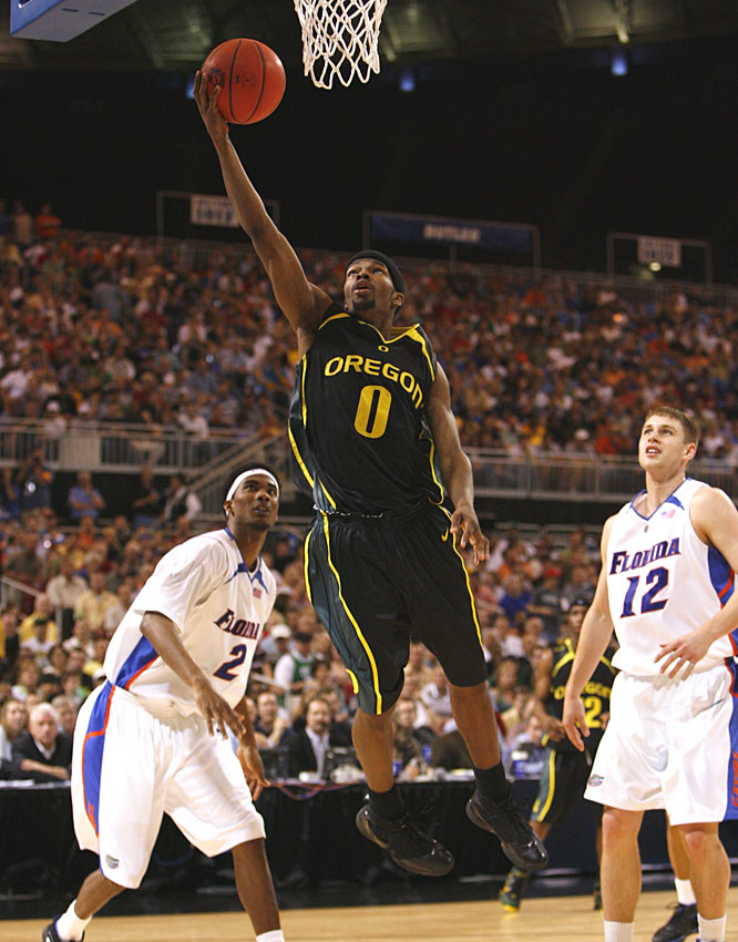 Senior Aaron Brooks was 11-for-19 from the field for a game-high 27 points in his final game for the Ducks.