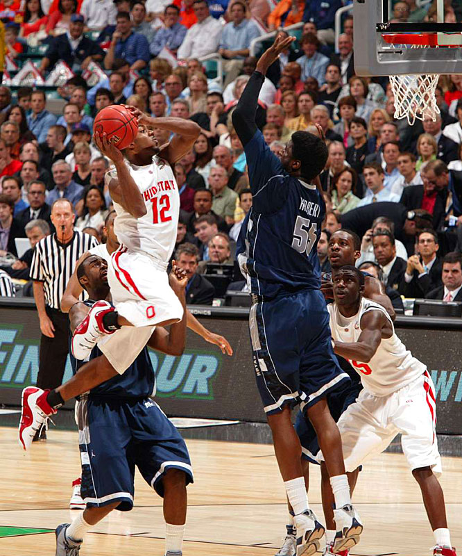 Ohio State's Ron Lewis struggled from the field, hitting just 1-of-8 shots for nine points.