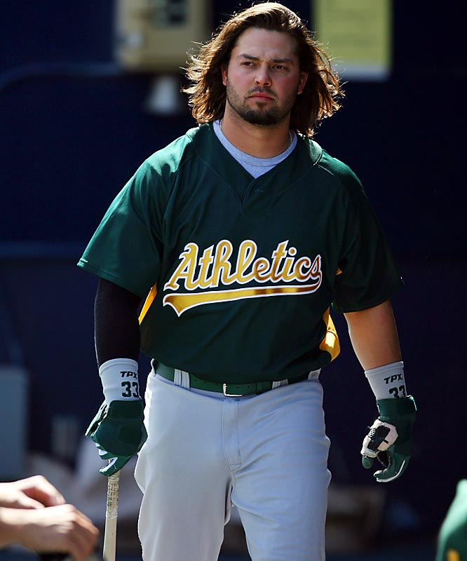 Scruffy Nick Swisher emerged as one of the A's stars last season by belting 35 home runs.