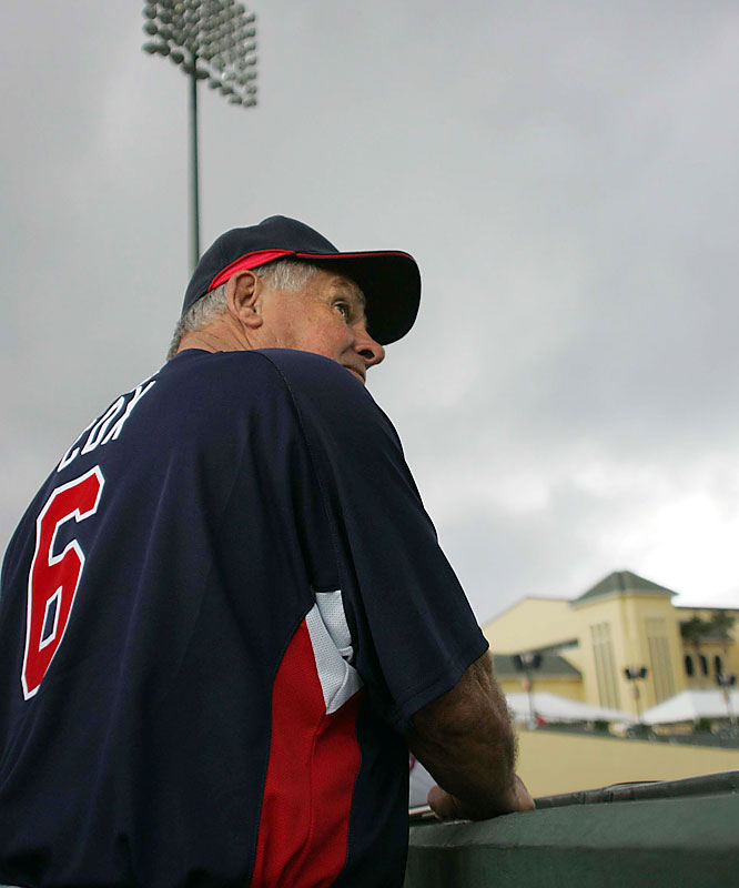 Bobby Cox gets ready for his 18th consecutive season managing the Braves, whom he also managed from 1978-81.