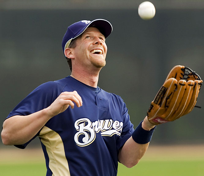 What goes up ... must come down for longtime Brewers slugger Geoff Jenkins.