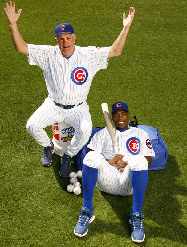 The new faces of the Cubs: Soriano and Piniella.