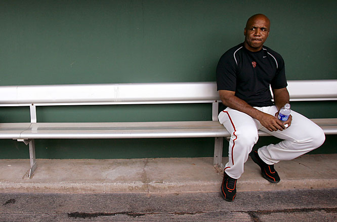 Bonds, 42, signed a one-year, $15.8 million contract to return, hoping to pass Hank Aaron's all-time home run record.