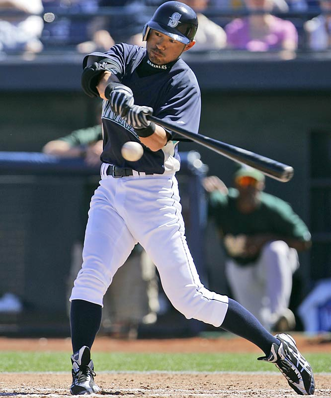 Ichiro Suzuki has batted over .300, scored over 100 runs, and stolen over 30 bases in each of the six seasons he's been in the majors.