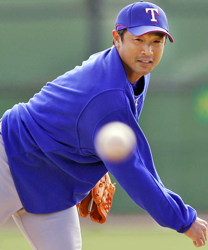 Akinora Otsuka saved 32 games for the Rangers last season but will begin 2007 as Eric Gagne's setup man.