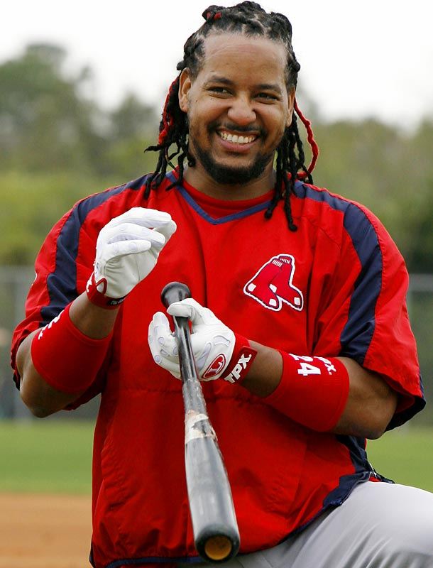 Manny Ramirez gets ready to hit.