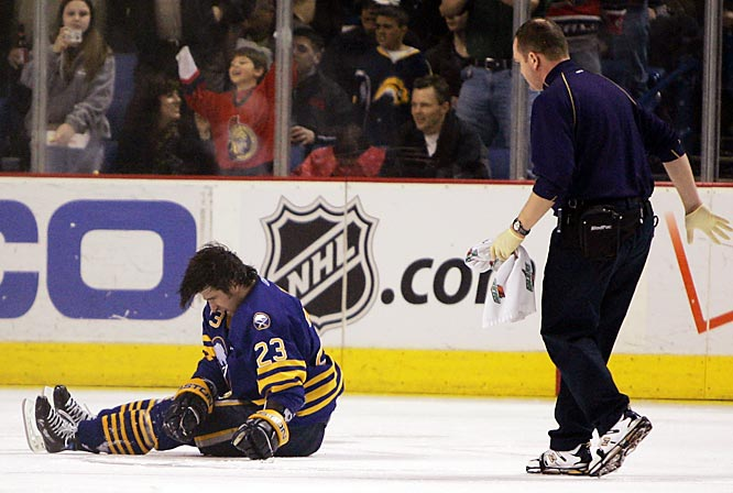 Until Chris Simon savagely laid out Ryan Hollweg, this season's most controversial hit was the one that separated Sabres co-captain Drury from his helmet. The blast from Neil -- who was not penalized -- left Drury with a concussion and needing more than 20 stitches on his forehead. ''It was a predator-type of hit where Chris was vulnerable,'' said incensed Sabres coach Lindy Ruff, whose goons quickly instigated a brawl with the Senators. <br><br>Check out the rest of the gallery for more notorious hits that stretch back 52 years.