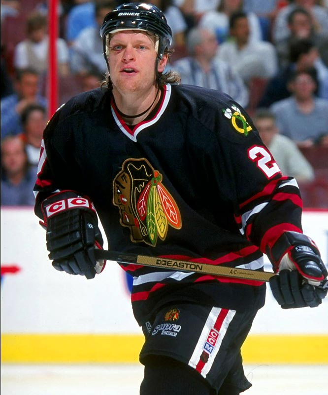 The Blackhawks' blueliner laid serious wood to Kariya's head immediately after the diminutive Mighty Ducks winger scored a goal. Kariya missed the upcoming Olympics and the rest of the season with post-concussion syndrome. Suter suffered a four-game suspension.