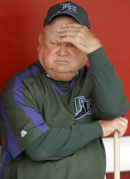 If Rays coach Don Zimmer feels this way in March, we'd hate to see him in September.